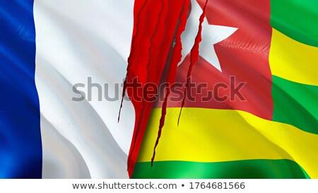 Fransa Togo bayraklar bilmece yalıtılmış beyaz Stok fotoğraf © Istanbul2009