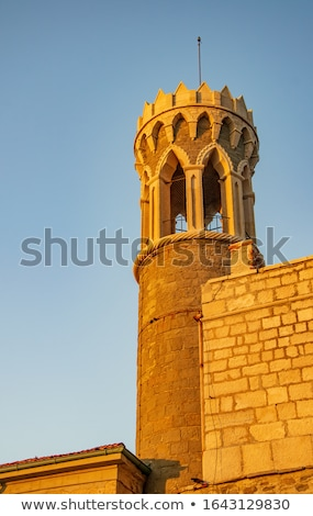 Sunlit Old Town of Piran in the Morning. Stock photo © Kayco