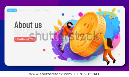 valuta · érme · vektor · piktogram · kép · izolált - stock fotó © boroda