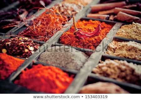 verschillend · specerijen · houten · Rood · macro - stockfoto © constantinhurghea