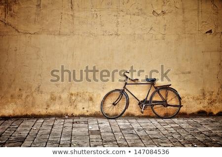 old bicycle on the street stock photo © stevanovicigor