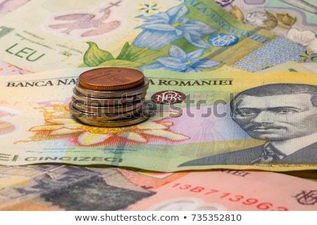 Diferente notas moedas Romênia dinheiro negócio Foto stock © CaptureLight