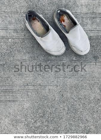 casual canvas shoes on concrete road stock photo © stevanovicigor