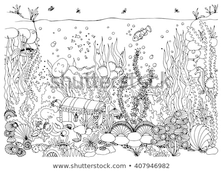 Underwater world wallpaper, vector illustration Stock photo © carodi