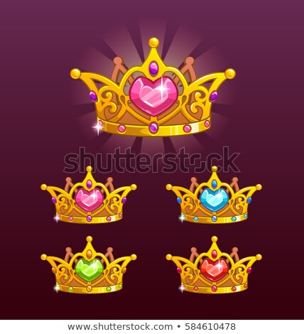 Golden Crown and heart symbol Stock photo © cienpies