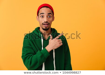 Сток-фото: случайный · человека · указывая · пальца · далеко