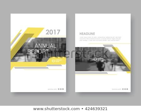 Yellow Cover Annual report brochure flyer template creative desi Stock photo © ganpanjanee