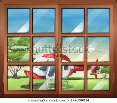A closed window and the chopper outside Stock photo © bluering