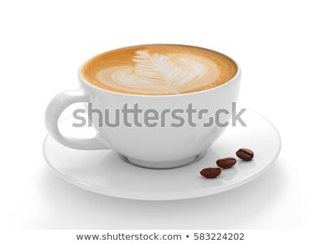 Tasse cappuccino tasse de café café mousse design Photo stock © mady70