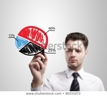 Pie Chart Shows Statistic Profit And Graphics Stock photo © stuartmiles