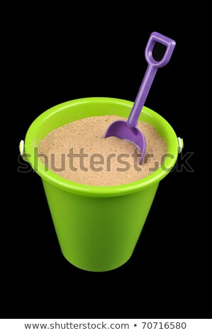 A violet pail with sand Stock photo © bluering