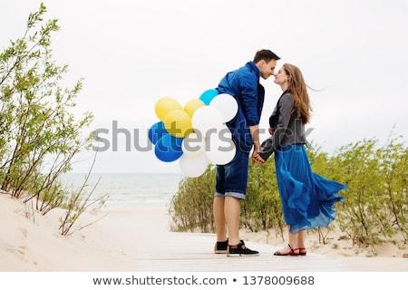 Miłości spaceru morza molo Zdjęcia stock © deandrobot