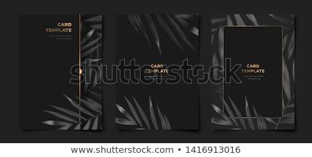 Black floral templates Stock photo © bluering