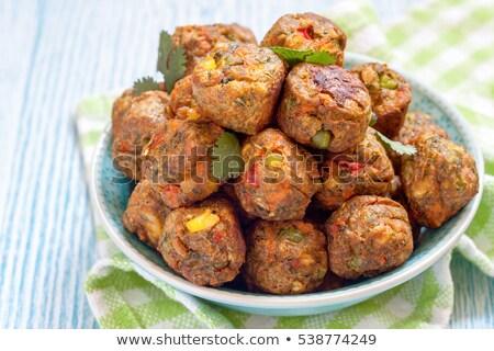 Vegetarisch bal voedsel ontbijt lunch maaltijd Stockfoto © M-studio