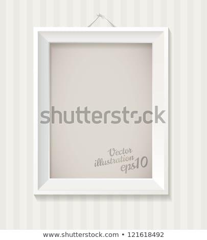 画像フレーム 白 eps 10 イースター カラフル ストックフォト © beholdereye