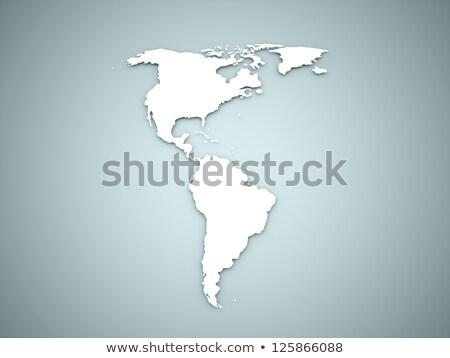 Colore mondo illustrazione 3d settentrionale sud america mappa Foto d'archivio © 7Crafts