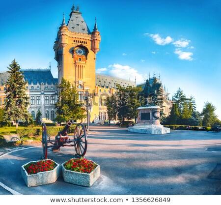Palota kultúra Romania gyönyörű építészet tájékozódási pont Stock fotó © frimufilms