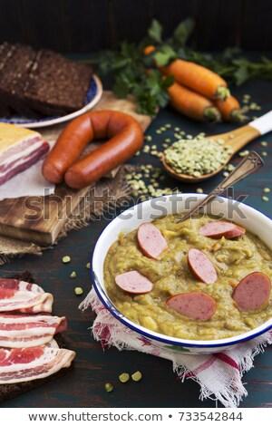スープ · 木製のテーブル · 食品 · キッチン · 表 · 肉 - ストックフォト © zhekos