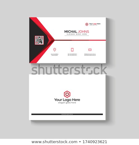 company business brochure template in red black and white colors stock photo © SArts
