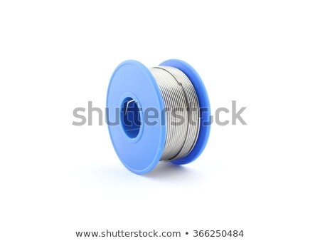Soldering wire reel, isolated on white Stock photo © clarion450