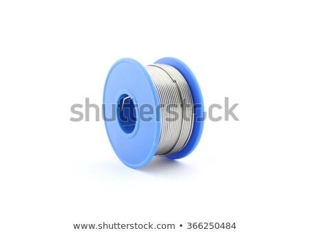 forrasztás · drót · tekercs · izolált · fehér · munka - stock fotó © clarion450