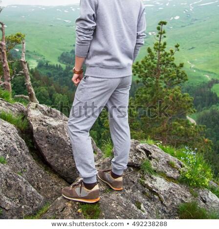 человека Top горные дизайна Сток-фото © Yatsenko