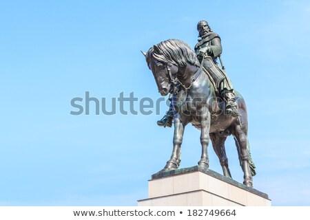 Paardrijden Praag Tsjechische Republiek wolken gezicht kunst Stockfoto © Kirill_M