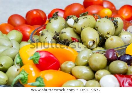 пасты · продовольствие · сыра · мяса · растительное · ветчиной - Сток-фото © monkey_business