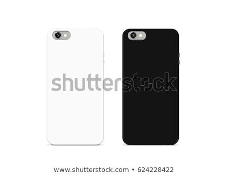 empty black and white smartphone cases set Stock photo © SArts