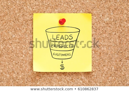 sales funnel business concept on sticky note stock photo © ivelin