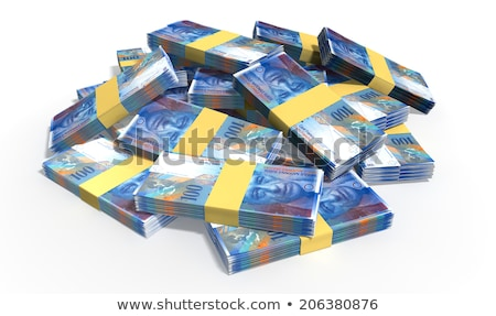 Swiss Franc Notes Scattered Pile Stock photo © albund
