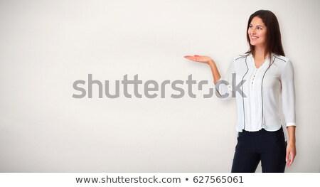 Businsswoman presenting company. Stock photo © Kurhan