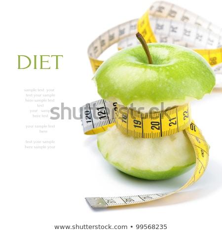 diet food concept, apple and meter Stock photo © M-studio