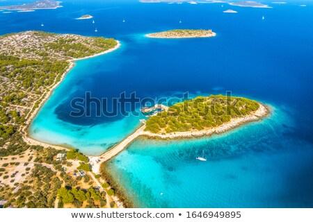 Légifelvétel híd szigetek part víz fa Stock fotó © NeonShot