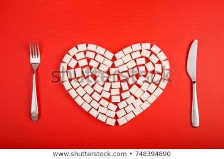 sugar heart Stock photo © phbcz