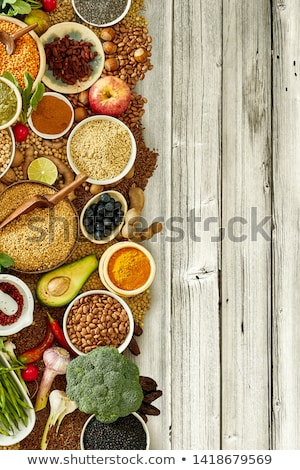 Food seasoning border Stock photo © unikpix