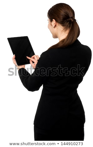 Rear view of businesswoman using interface Stock photo © wavebreak_media