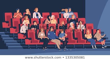 Ritratto uomo seduta film teatro donna Foto d'archivio © wavebreak_media