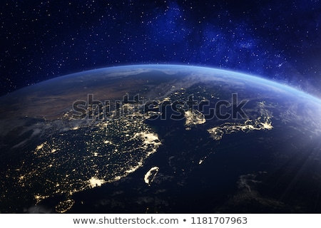 China and Japan city lights map Stock photo © ixstudio