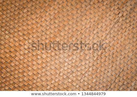 Wicker Straw Mat Background Stock photo © zhekos