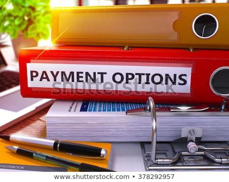 Carta file pagamento opzioni 3D arancione Foto d'archivio © tashatuvango