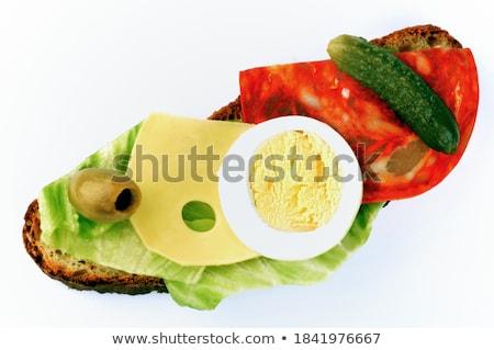 vegyes · olajbogyók · kenyér · olívaolaj · petrezselyem · étel - stock fotó © digifoodstock