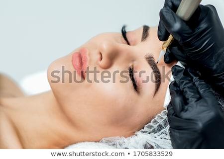 Ceja maquillaje primer plano manos japonés Foto stock © MilanMarkovic78