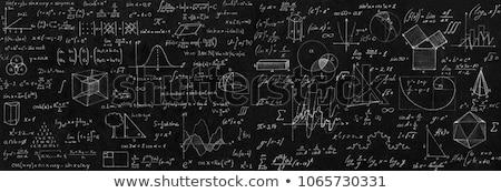 Stock photo: blackboard mathematics calculate lesson