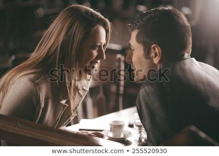 Pár illusztráció bámul nő lány szeretet Stock fotó © lenm