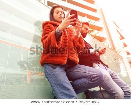 Divat pár néz hipszter szomorú pillanat Stock fotó © DisobeyArt