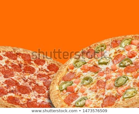 pizza · et · sebze · biber · taze - stok fotoğraf © get4net