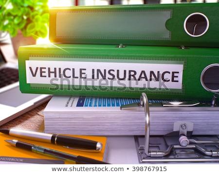Green Ring Binder with Inscription Vehicle Insurance. Stock photo © tashatuvango
