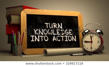Girare conoscenza azione manoscritto lavagna piccolo Foto d'archivio © tashatuvango