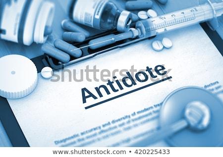 解毒剤 診断 医療 錠剤 シリンジ 3D ストックフォト © tashatuvango